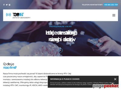 Tombant- Serwis i montaż instalacji RTV-SAT, Bielsko Biała