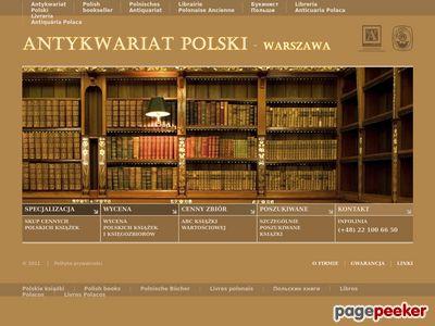Antykwariat Polski Polskie cenne książki starodruki Wycena Zakup