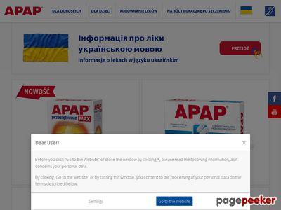 Skuteczny lek przeciwbólowy APAP