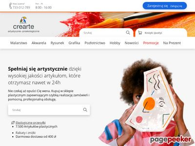 Artykuły dla plastyków - sklep plastyczny: farby, pędzle, podobrazia, akcesoria malarskie