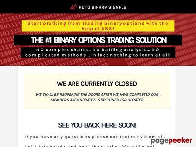 AutoBinarySignals.com – Binary Options Trading Solution