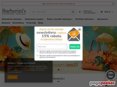 Sklep internetowy z galanterią skórzaną - Barberini's