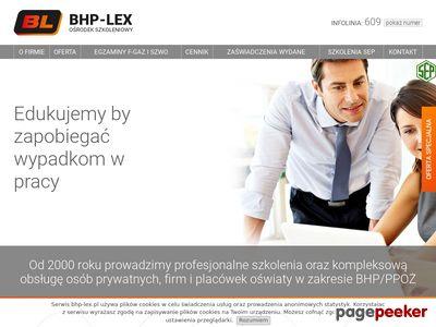 BHP LEX - Szkolenia Gliwice