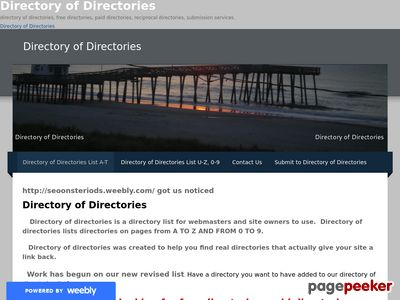 Read more about: Big Directory List of Directories