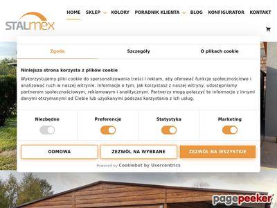 Produkcja, projekty garaży blaszanych, kojców dla psów - STALMEX