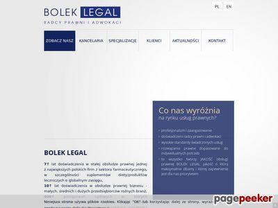 Radosław Bolek - Radca Prawny