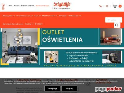 Sklep z oświetleniem - brightlife.pl