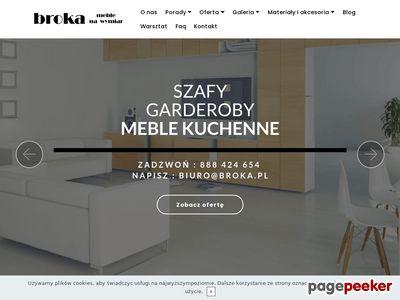 Broka.pl meble na wymiar Kraków, szafy Kraków