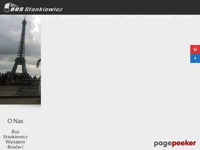 Bus Marek Stankiewicz, Przewóz osób, Wynajem busów i autokarów