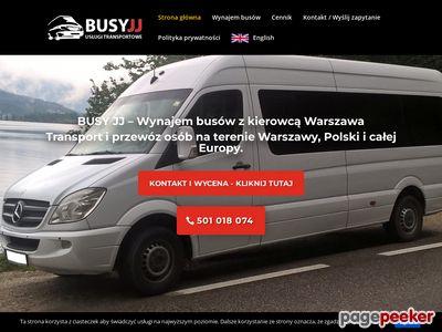 BusyJJ - wynajem busów z kierowcą Warszawa