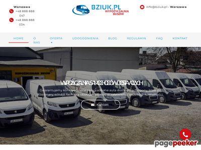 Bziuk.pl - Wynajem aut dostawczych