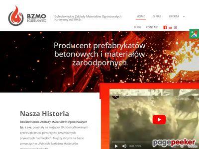 http://bzmo.com.pl : beton ogniotrwały