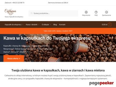 Kapsułki kawy do ekspresu - cafessima.pl