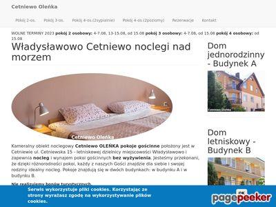 Cetniewo OLEŃKA noclegi Władysławowo