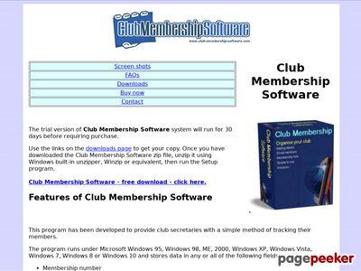 Club Membership Software - Free Download - Club Membership System