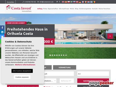 Costainvest.com - bungalow Hiszpania