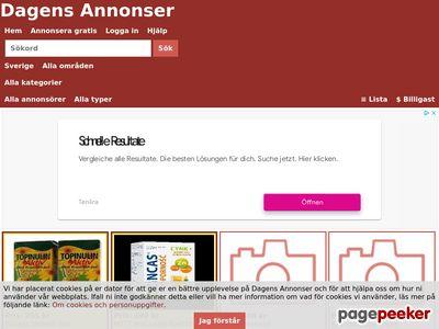 Skärmdump av dagensannonser.se