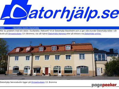 Skärmdump av datorhjalp.se