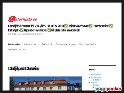 Datorhjälp - Tel 08 37 21 00 - http://datorhjalp.se