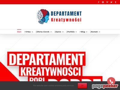 Departament Kreatywności -Tworzenie stron www Warszawa