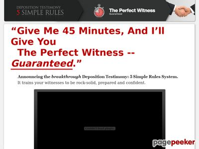 Deposition Testimony - Best done for you client prep for depositions guaranteed