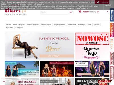 Bielizna koronkowa, bodystocking, biustonosze duże rozmiary - Diores.pl