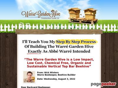 DIYBeehive.com – Build Your Own Warre Garden Backyard Top Bar Bee Hive