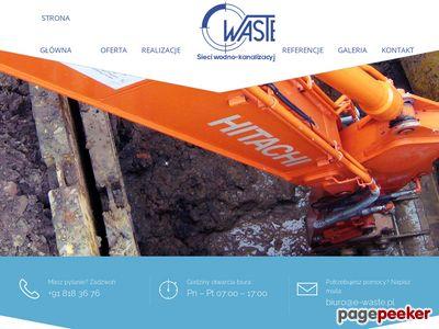 WASTE DANIEL JAWORSKI przyłącza wodno-kanalizacyjne szczecin