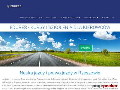 Prawo jazdy, nauka jazdy Rzeszów - EDURES