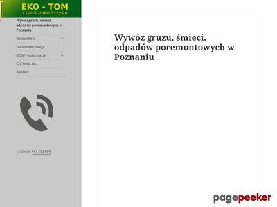 Kontenery na gruz Poznań
