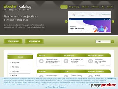Ekostim.pl - katalog stron
