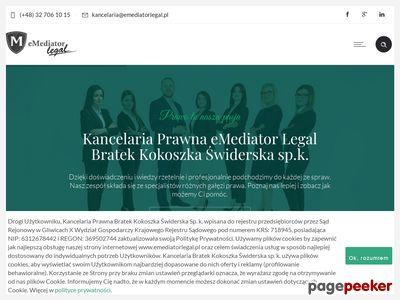 Prawnik Gliwice, Adwokat Gliwice, Radca prawny Gliwice