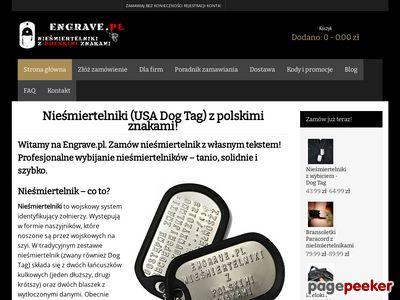 Nieśmiertelniki - sklep Engrave.pl