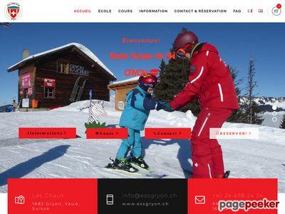 >Ecole suisse de ski et de snowboard de Gryon - A visiter!