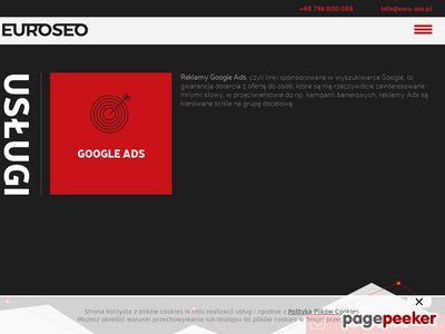 Kampanie Google AdWords - EURO SEO Kraków