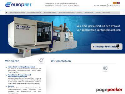 Europnet - wtryskarki używane Battenfeld, Krauss Maffei, Arburg, Engel