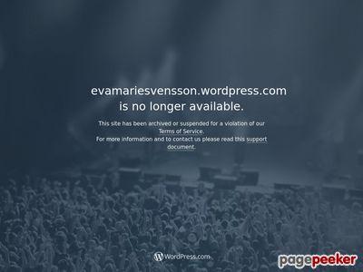 Skärmdump av evamariesvensson.wordpress.com