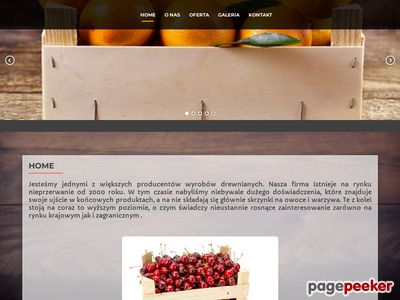 Drewniane łubianki na truskawki