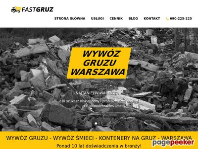 Wywóz gruzu Warszawa