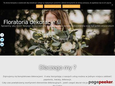 Floratoria - dekoracje ślubne i weselne.