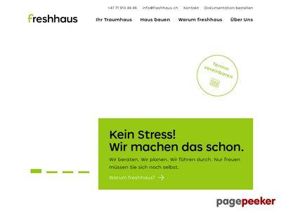 Freshhaus.ch - Fertighaus bauen mit Festpreis
