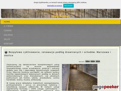 Cyklinowanie, renowacja podłóg Gajapartner.pl