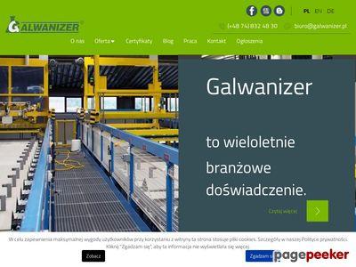 Galwanizer - obróbka galwaniczna