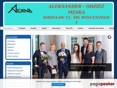 Sklep Aleksander - Garnitury