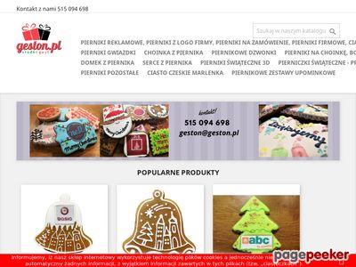 Geston.pl pierniki reklamowe z logo
