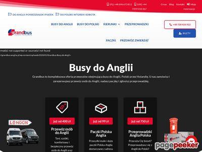 Busy z Polski do Anglii - Grandbus-Anglia.pl