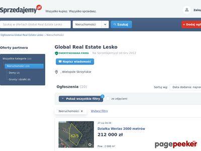 Global Real Estate Lesko - Ogłoszenia Nieruchomości