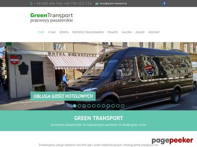 Green Transport - Przewóz osób Poznań Transport osób Poznań