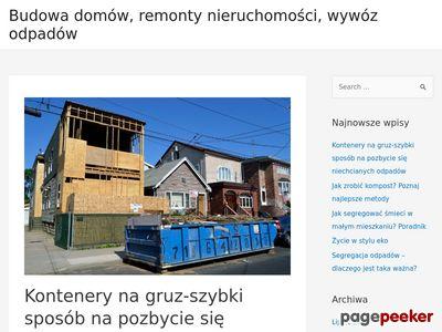 Kontenery na gruz w Łodzi