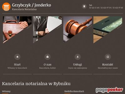 A. Grzybczyk, K. Jonderko - notariusze Rybnik